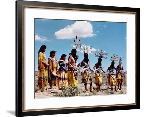 Apache Gahe Dancers--Framed Art Print