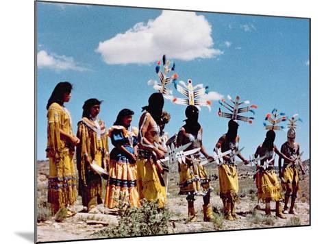 Apache Gahe Dancers--Mounted Photographic Print