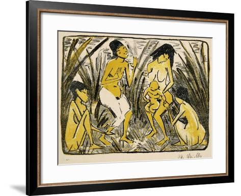 Discovery of Moses, 1920-Otto Muller or Mueller-Framed Art Print