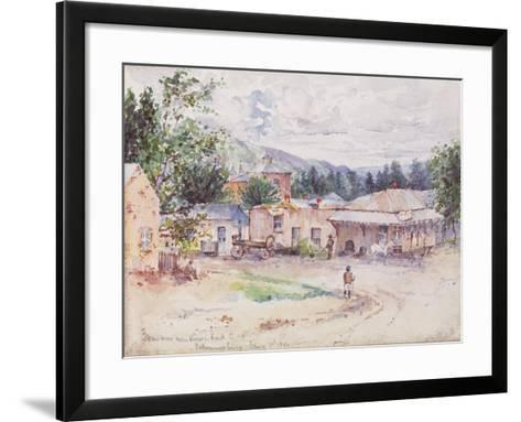 Scenes from the Boer War from a Sketchbook, 1896--Framed Art Print