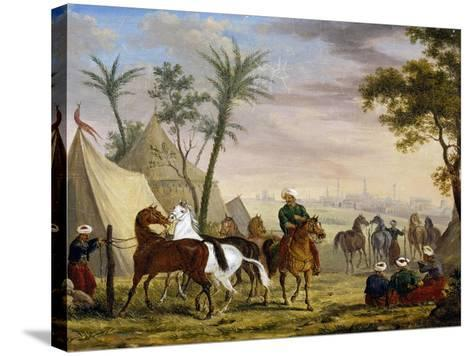 An Eastern Encampment, by Charles Bellier--Stretched Canvas Print