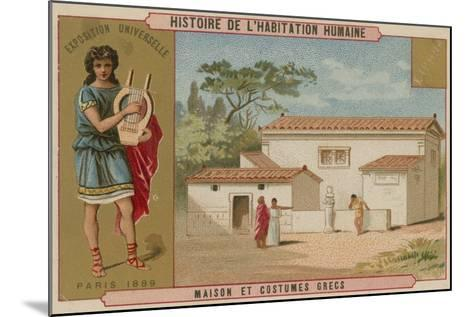 Greek House and Costumes--Mounted Giclee Print