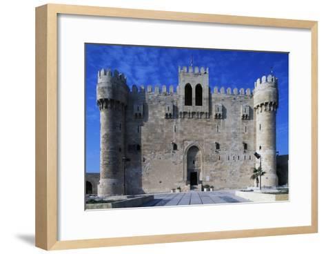 Facade of Citadel of Qaitbay--Framed Art Print