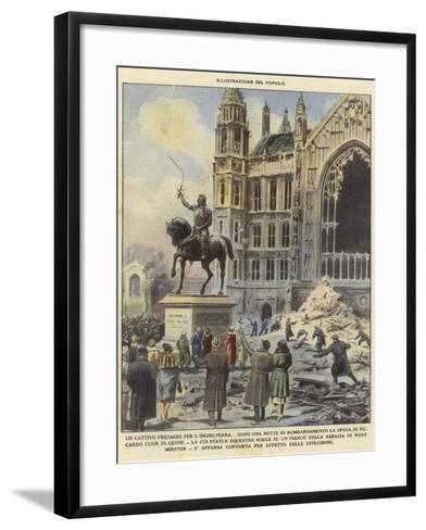 A Bad Omen for England--Framed Art Print