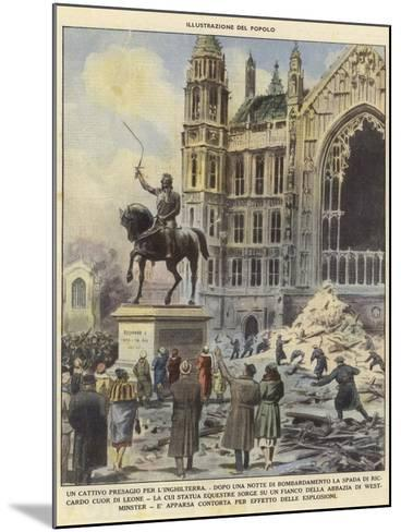 A Bad Omen for England--Mounted Giclee Print