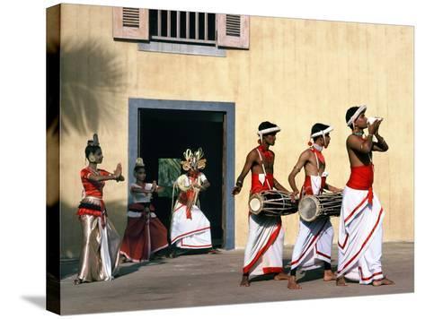 Sinhalese Dancers, Sri Lanka--Stretched Canvas Print