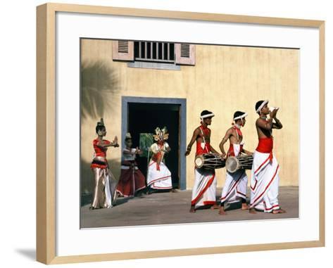 Sinhalese Dancers, Sri Lanka--Framed Art Print