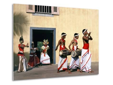 Sinhalese Dancers, Sri Lanka--Metal Print