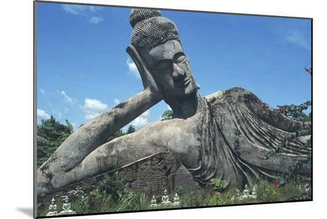 Statue of Reclining Buddha--Mounted Photographic Print