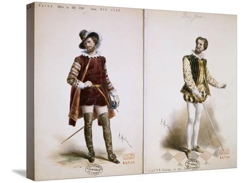 Portrait of Jean Baptiste Faure'--Stretched Canvas Print