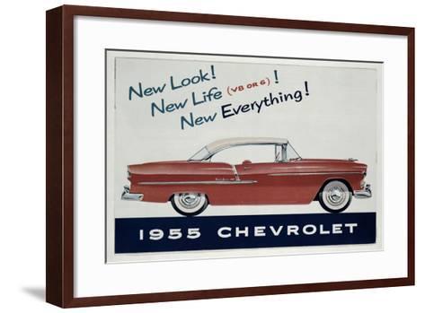 Poster Advertising the 1955 Chevrolet Car--Framed Art Print