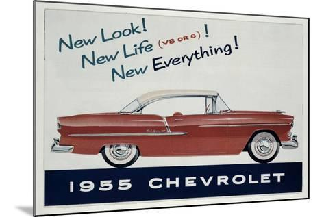 Poster Advertising the 1955 Chevrolet Car--Mounted Giclee Print