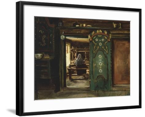 Woman at Loom, 1874-Adolph Tidemand-Framed Art Print