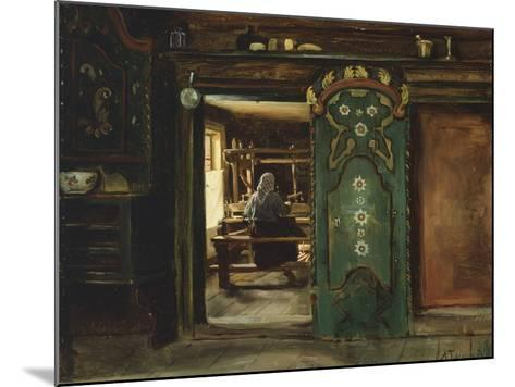 Woman at Loom, 1874-Adolph Tidemand-Mounted Giclee Print