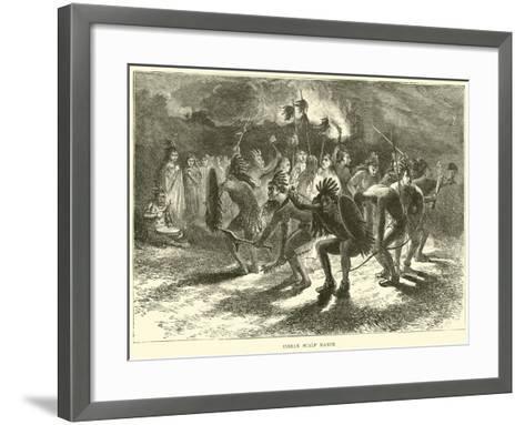 Indian Scalp Dance--Framed Art Print