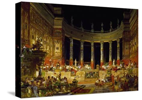 Set Design by Edoardo Merchioro for Nerone--Stretched Canvas Print