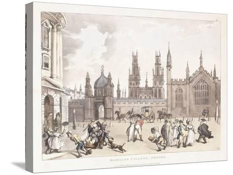 Magdalen College, Oxford, 1809-1811-Thomas Rowlandson-Stretched Canvas Print