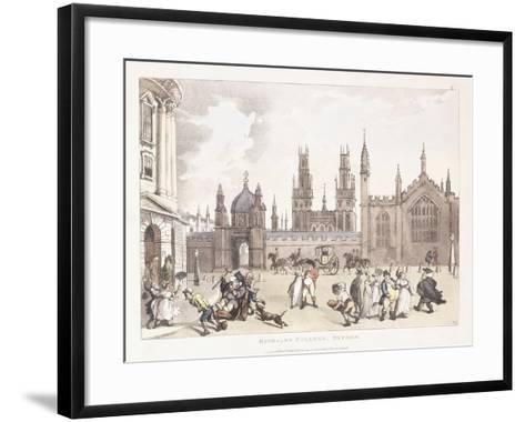 Magdalen College, Oxford, 1809-1811-Thomas Rowlandson-Framed Art Print