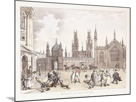Magdalen College, Oxford, 1809-1811-Thomas Rowlandson-Mounted Giclee Print