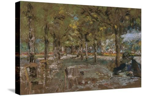 Reading Beneath the Trees at Amfreville, C.1906-Edouard Vuillard-Stretched Canvas Print
