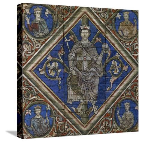 St Peter, Detail from Wooden Ceiling--Stretched Canvas Print