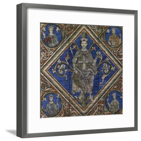 St Peter, Detail from Wooden Ceiling--Framed Art Print