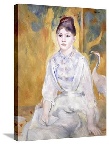 Young Girl with a Swan, 1886-Pierre-Auguste Renoir-Stretched Canvas Print