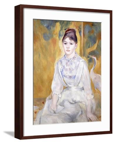 Young Girl with a Swan, 1886-Pierre-Auguste Renoir-Framed Art Print