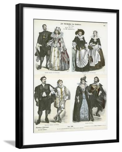 Costumes of the Netherlands, Early 17th Century--Framed Art Print