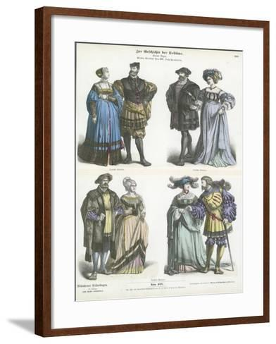 German Costumes, Early 16th Century--Framed Art Print