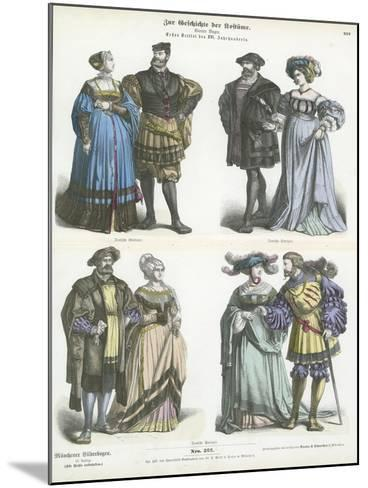 German Costumes, Early 16th Century--Mounted Giclee Print