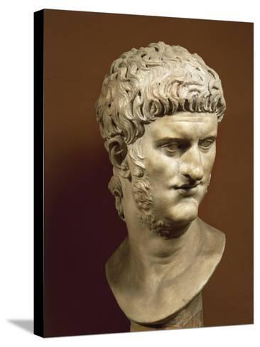 Head of Nero Claudius Caesar Augustus Germanicus--Stretched Canvas Print