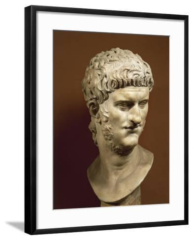 Head of Nero Claudius Caesar Augustus Germanicus--Framed Art Print