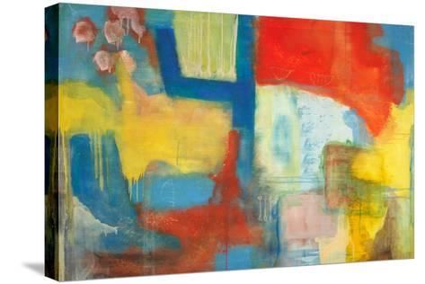 Abstract Expressionist in Red, Yellow and Blue-English School-Stretched Canvas Print