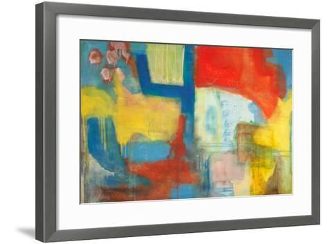 Abstract Expressionist in Red, Yellow and Blue-English School-Framed Art Print