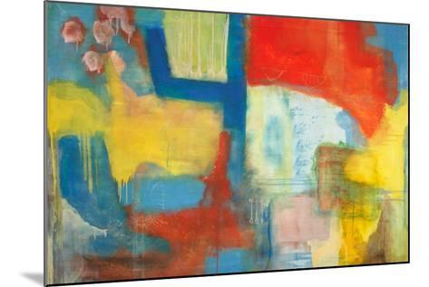 Abstract Expressionist in Red, Yellow and Blue-English School-Mounted Giclee Print