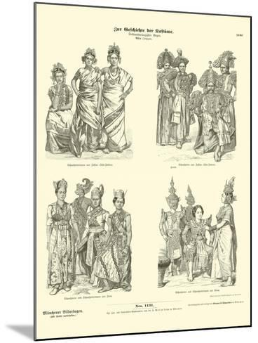 Asian Actors' Costumes, Late 19th Century--Mounted Giclee Print