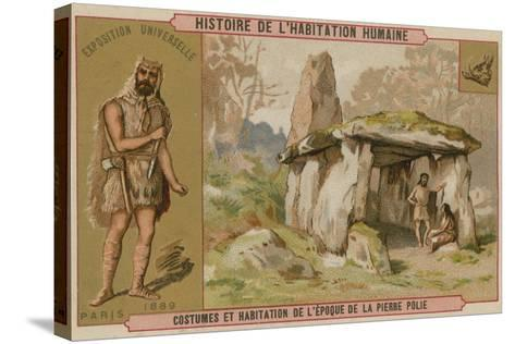 Neolithic Costumes and Dwellings--Stretched Canvas Print