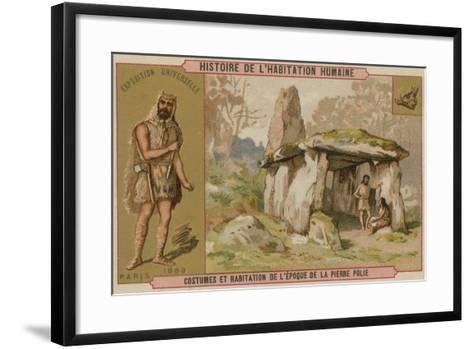Neolithic Costumes and Dwellings--Framed Art Print