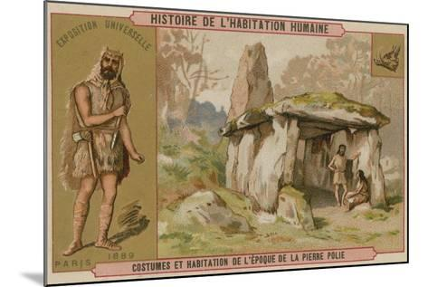 Neolithic Costumes and Dwellings--Mounted Giclee Print