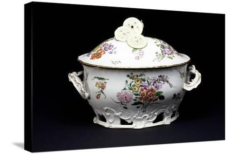 Tureen with Barbotine Slip--Stretched Canvas Print