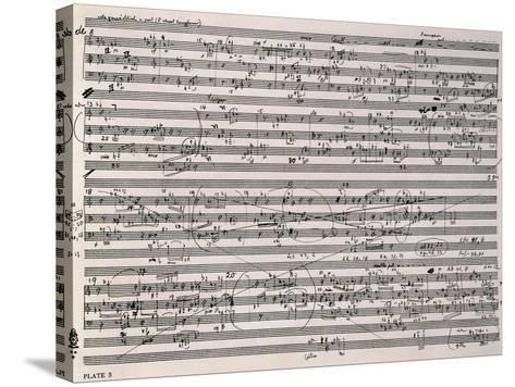 Music Score of Sketches-Anton Webern-Stretched Canvas Print