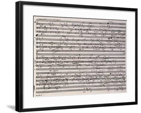 Music Score of Sketches-Anton Webern-Framed Art Print