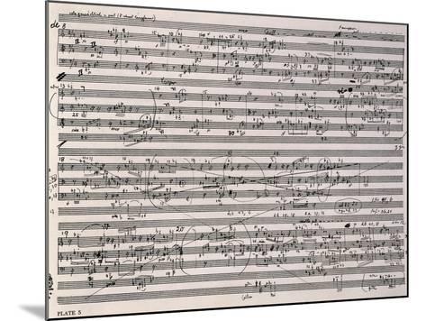 Music Score of Sketches-Anton Webern-Mounted Giclee Print