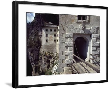 Detail of Entrance Way to Predjama Castle--Framed Art Print