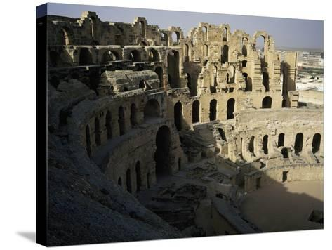View of Interior of Roman Amphitheatre of El Jem--Stretched Canvas Print