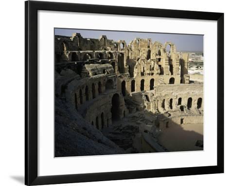View of Interior of Roman Amphitheatre of El Jem--Framed Art Print