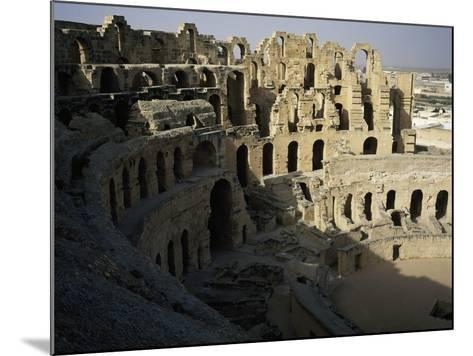 View of Interior of Roman Amphitheatre of El Jem--Mounted Photographic Print