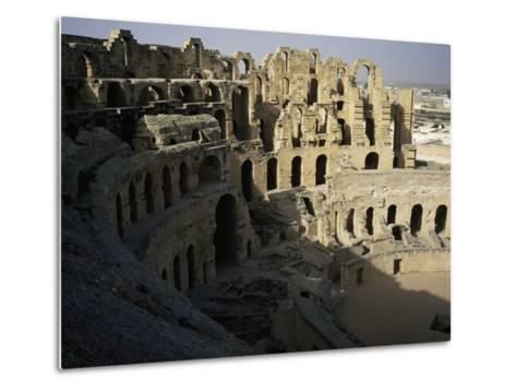 View of Interior of Roman Amphitheatre of El Jem--Metal Print