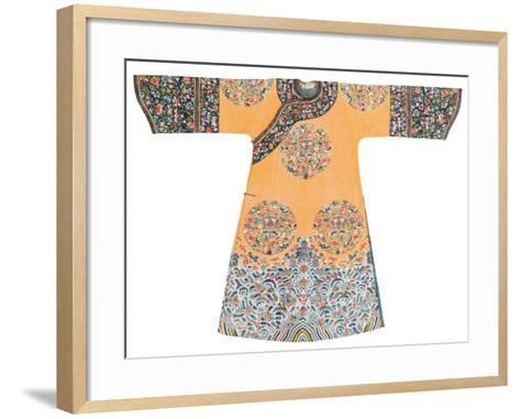 Manchu Style Robe--Framed Art Print